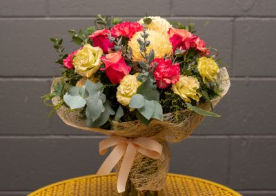 Gallery- Seasonal Bright Mix Posy in vase From $70.00 (Large)